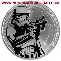 @1 ONZA 2018@ NIUE 2 DOLARES 2018 STAR WARS STORMTROOPER MONEDA DE PLATA PURA SC 999 fine silver coin OUNCE OZ
