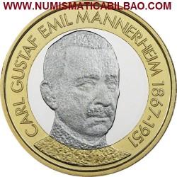 FINLANDIA 5 EUROS 2017 PRESIDENTE Nº 6 CARL GUSTAF EMIL MANNERHEIM 1867 1951 MONEDA BIMETALICA SC