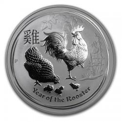 AUSTRALIA 1 DOLAR 2017 AÑO DEL GALLO MONEDA DE PLATA PURA SC $1 Dollar coin ONZA OZ OUNCE YEAR OF THE ROOSTER