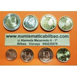 ESPAÑA MONEDAS EURO 2005 SIN CIRCULAR 1+2+5+10+20+50 Centimos 1 EURO + 2 EUROS 2005 REY JUAN CARLOS I
