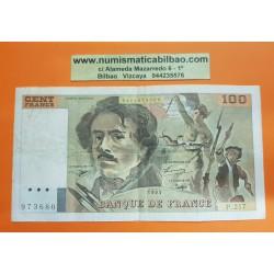 FRANCIA 100 FRANCOS 1993 DELACROIX Serie P.217 Pick 154E BILLETE MBC France 100 Francs banknote