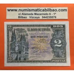 ESPAÑA 2 PESETAS 1938 CATEDRAL DE BURGOS Serie D 8025940 Pick 109A BILLETE PLANCHA SIN CIRCULAR Spain