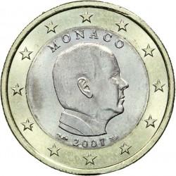 @OFERTA y RARA@ MONACO 1 EURO 2007 REY ALBERTO I MONEDA SC BIMETALICA Principado de Monaco