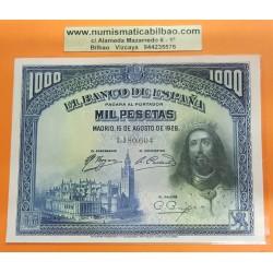 ESPAÑA 1000 PESETAS 1928 REY FERNANDO III Sin serie 1180604 Pick 78 BILLETE SC SIN CIRCULAR Spain