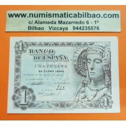 ESPAÑA 1 PESETA 1948 DAMA DE ELCHE Serie H 01087230 Pick 135 BILLETE SIN CIRCULAR SC PLANCHA Spain