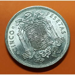 . ESPAÑA 5 PESETAS 1949 * 19 49 FRANCO SIN CIRCULAR NICKEL SPAIN