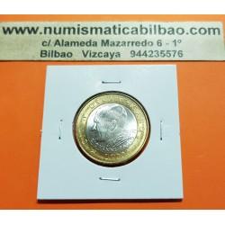 VATICANO 1000 LIRAS 2001 PAPA JUAN PABLO II y ESCUDO KM.337 MONEDA BIMETALICA SC @MUY RARA@ 1000 Lire