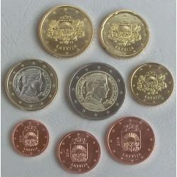 LETONIA MONEDAS EUROS 2014 SC 1+2+5+10+20+50 Centimos + 1 EURO + 2 EUROS SERIE
