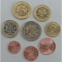LITUANIA MONEDAS EUROS 2015 SC 1+2+5+10+20+50 Centimos + 1 EURO + 2 EUROS SERIE