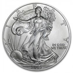 ESTADOS UNIDOS 1 DOLAR 2003 EAGLE LIBERTY MONEDA DE PLATA PURA SC $1 Dollar Coin USA UNITED STATES ONZA OZ OUNCE