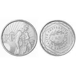 FRANCIA 5 EUROS 2008 LA SEMBRADORA SEMEUSE KM.1534 MONEDA DE PLATA SC France 5 Euro silver coin