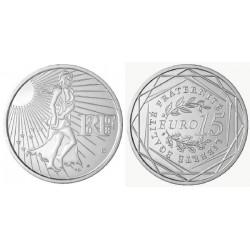 FRANCIA 15 EUROS 2008 LA SEMBRADORA SEMEUSE KM.1535 MONEDA DE PLATA SC France 15 Euro silver coin