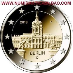 ALEMANIA 2 EUROS 2018 ESTADO DE BERLIN PALACIO DE CHARLOTTENBURG SC MONEDA CONMEMORATIVA Germany Euro coin