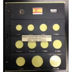 HOJA PARDO PARA ESPAÑA MONEDAS EURO 2011 + 2 EUROS 2011 LA ALHAMBRA + 20 EUROS 2010 + 20 EUROS 2011 PLATA