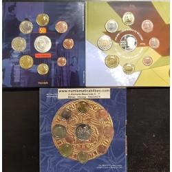 @LOTE DE 3@ BELGICA CARTERA EUROS 2002 + 2003 + 2004 SC 1+2+5+10+20+50 Centimos + 1 EURO + 2 EUROS UNC BU SET KMS Belgium