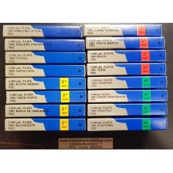 ESPAÑA 16 monedas de 2000 PESETAS 1990 + 1991 + 1992 OLIMPIADA DE BARCELONA 92 PLATA FDC SC ESTUCHES OFICIALES FNMT