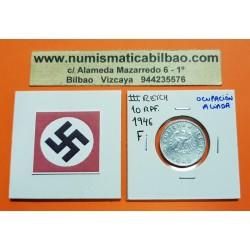 . ALEMANIA Ocup Aliada 10 REICHSPFENNIG 1946 F NAZI III REICH