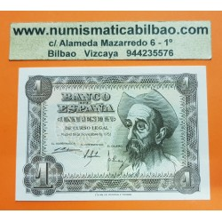 ESPAÑA 1 PESETA 1951 DON QUIJOTE Serie B 3506015 Pick 139 BILLETE SC SIN CIRCULAR @ESCASA@ Spain UNC banknote