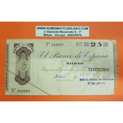 BILBAO 25 PESETAS 1936 BANCO DE VIZCAYA 323708 EUZKADI