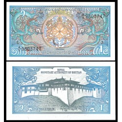 BHUTAN 1 NGULTRUM 1986 TEMPLO Pick 12 BILLETE SC UNC BANKNOTE