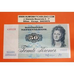 DINAMARCA 50 KRONER 1992 PEZ y ENGELKE CHARLOTTE RYBERG Pick 50J BILLETE SC Denmark UNC BANKNOTE