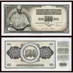 YUGOSLAVIA 500 DINARA 1986 ESTATUA DE NICOLA TESLA FAMOSO INVENTOR Pick 91C BILLETE SC UNC BANKNOTE