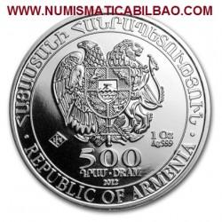 ARMENIA 500 DRAMS 2012 ARCA DE NOE MONEDA DE PLATA SC 1 ONZA 202 OZ OUNCE Noah's Ark