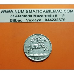 ALBANIA 1 LEK 1930 V (Viena) CARLO MAGNO A CABALLO REY ZOG I KM.5 MONEDA DE NICKEL MBC++ 1 LEKE