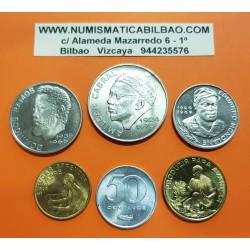 @6 MONEDAS@ CABO VERDE 50 CENTAVOS + 1 ESCUDO + 2,50+10+20+50 1977+1980+1982 ALUMINIO LATON NICKEL SC Portugal CAPE VERDE