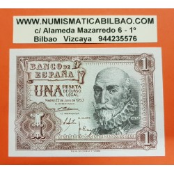 ESPAÑA 1 PESETA 1953 MARQUES DE SANTA CRUZ Serie V Pick 144 BILLETE SC SIN CIRCULAR Spain banknote