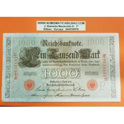 @OFERTA@ ALEMANIA 1000 MARCOS 1910 IMPERIO MUJERES y AGUILA Serie ROJA Letra P Pick 44 BILLETE EBC Germany 1000 Reichsbanknote