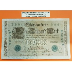 ALEMANIA 1000 MARCOS 1910 IMPERIO MUJERES y AGUILA Serie VERDE Letra C Pick 44 BILLETE MBC+ Germany 1000 Reichsbanknote