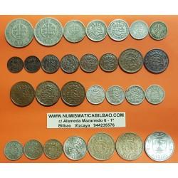 @29 MONEDAS@ ANGOLA II+IIII MACUTAS + 10+20+50 CENTAVOS + 1+2,50+5+10 ESCUDOS 1928-1972 COBRE y NICKEL ALGUNAS RARAS