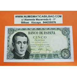 ESPAÑA 5 PESETAS 1951 JAIME BALMES Serie 1B Pick 140 BILLETE SC SIN CIRCULAR Spain banknote
