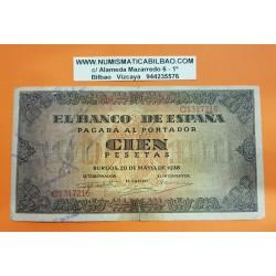ESPAÑA 100 PESETAS 1938 BURGOS CASA DEL CORDON Serie C 1317216 Pick 113 BILLETE MBC- Spain banknote