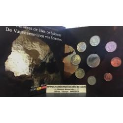 BELGICA CARTERA OFICIAL EUROS 2011 BU SET 1+2+5+10+20+50 CENTIMOS 1 EURO + 2 EUROS 2011 SC MONEDAS DISEÑO TIPO 2