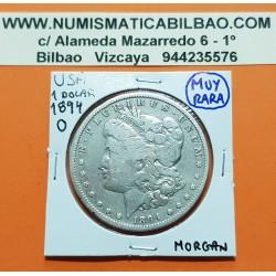 ESTADOS UNIDOS 1 DOLAR 1894 O MORGAN KM.110 MONEDA DE PLATA @RARA@ USA Silver $1 Dollar Coin