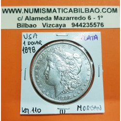ESTADOS UNIDOS 1 DOLAR 1898 MORGAN KM.110 MONEDA DE PLATA MBC+ USA Silver $1 Dollar Coin 1