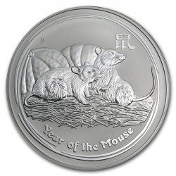 AUSTRALIA 1 DOLAR 2008 AÑO DE LA RATA 2ª SERIE LUNAR MONEDA DE PLATA $1 dollar silver OZ ONZA OUNCE YEAR OF THE MOUSE