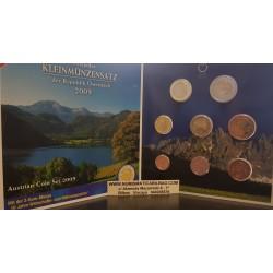 AUSTRIA CARTERA EUROS 2009 SC 1+2+5+10+20+50 Centimos + 1 EURO + 2 EUROS 2009 UNC BU SET KMS Österreich