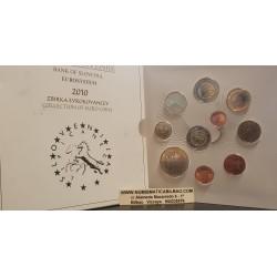ESLOVENIA CARTERA OFICIAL EUROS 2010 BU SET 1+2+5+10+20+50 CENTIMOS 1 EURO + 2x 2 EUROS 2010 + 3 EUROS 2010 SC 10 monedas