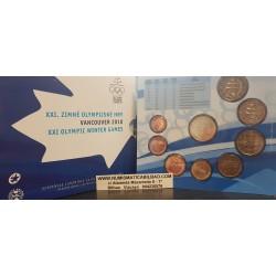 ESLOVAQUIA CARTERA OFICIAL EUROS 2010 BU SET 1+2+5+10+20+50 Centimos + 1+2 EUROS 2010 XXI OLIMPIADA DE INVIERNO SC KMS Slovakia