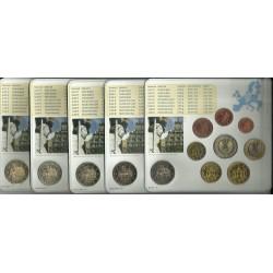 ALEMANIA 5 CARTERAS EURO 2010 Letras A+D+F+G+J BU SET SC 1+2+5+10+20+50 Centimos 1+2 Euros con moneda 2€ 2010 CONMEMORATIVA
