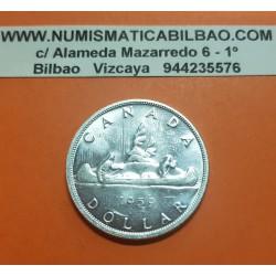 CANADA 1 DOLAR 1959 INDIOS EN CANOA tipo VOYAGEUR KM.54 MONEDA DE PLATA SC $1 Dollar silver coin