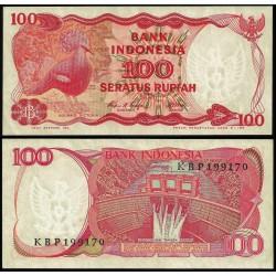 @OFERTA@ INDONESIA 100 RUPIAS 1984 AVE TIPO UROGALLO Pick 122 SC BILLETE 100 Rupiah UNC BANKNOTE