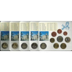 ALEMANIA 5 CARTERAS EURO 2009 Letras A+D+F+G+J BU SET SC 1+2+5+10+20+50 Centimos 1+2 Euros con moneda 2€ 2009 CONMEMORATIVA