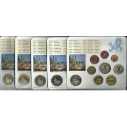 ALEMANIA 5 CARTERAS EURO 2011 Letras A+D+F+G+J BU SET SC 1+2+5+10+20+50 Centimos 1+2 Euros con moneda 2€ 2011 CONMEMORATIVA