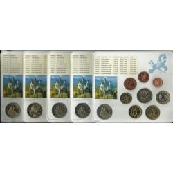ALEMANIA 5 CARTERAS EURO 2012 Letras A+D+F+G+J BU SET SC 1+2+5+10+20+50 Centimos 1+2 Euros con moneda 2€ 2012 CONMEMORATIVA