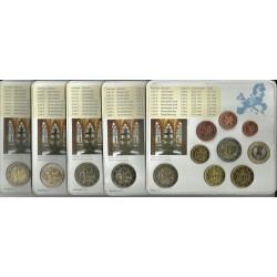 ALEMANIA 5 CARTERAS EURO 2013 Letras A+D+F+G+J BU SET SC 1+2+5+10+20+50 Centimos 1+2 Euros con moneda 2€ 2013 CONMEMORATIVA