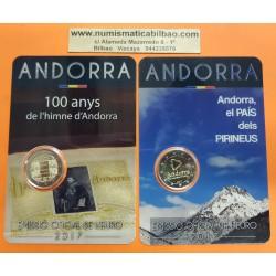 ANDORRA 2 EUROS 2017 Pareja de 2 monedas HIMNO + PAIS DE LOS PIRINEOS SC @RARAS@ Fecha de emisión Andorra 2 Euros 2018